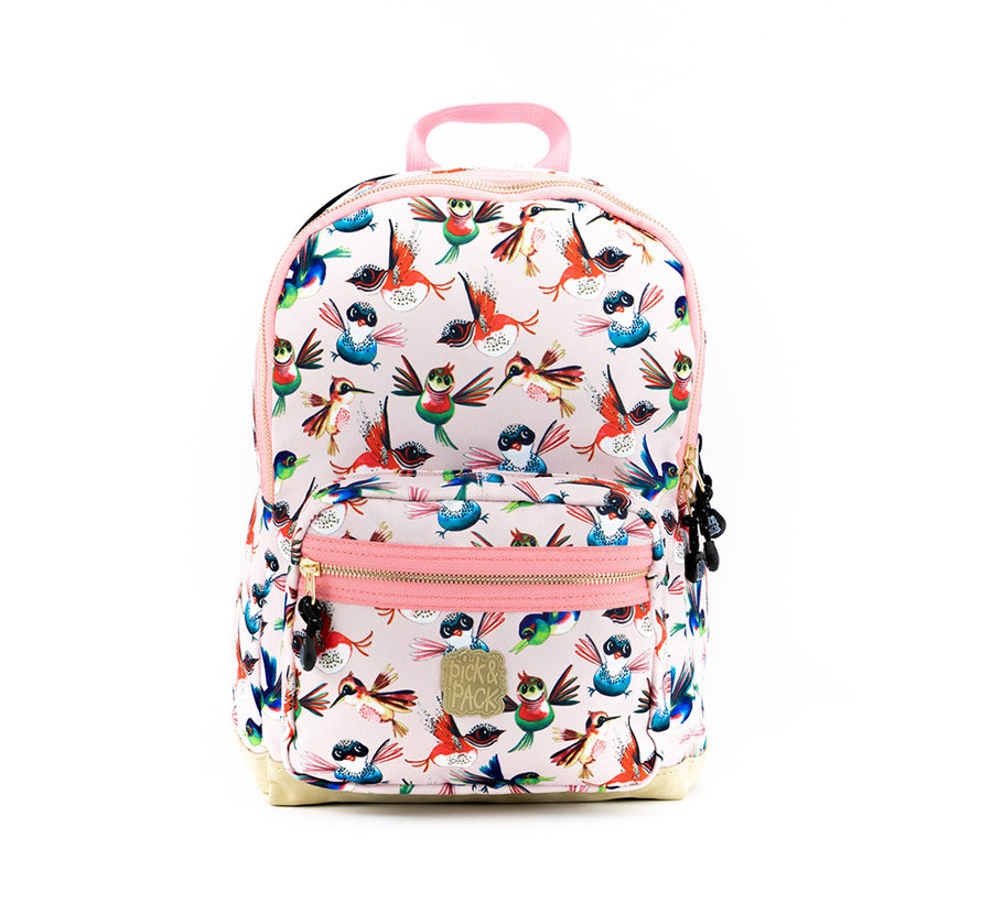 Kinder Rugzak Birds Soft Pink Pick & Pack Medium