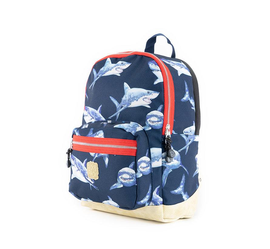 Kinder Rugzak Dark Blue Shark Pick & Pack Medium