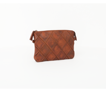 Bag2Bag Bag2Bag Madrid Clutchbag Party Collectie Cognac