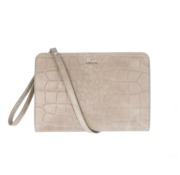 By LouLou Essentiels Crossbody Clutch Vintage Croco Taupe