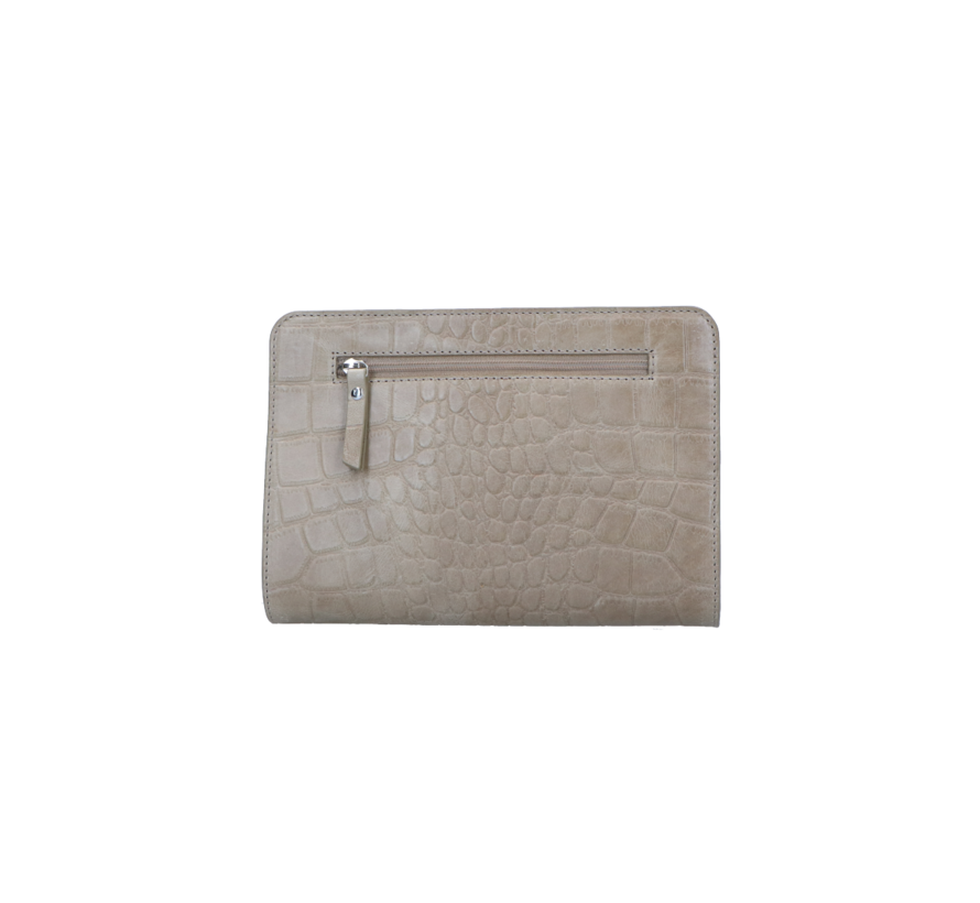 LouLou Essentiels Crossbody Clutch Vintage Croco Taupe