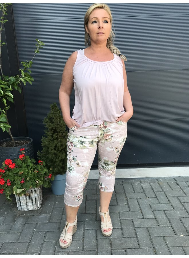 Basic top mouwloos oud roze