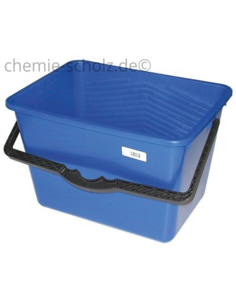 Fatzzo TT Fußboden Grundreiniger 10 Liter + 1 Auslaufhahn + 1 Eimer 14 Liter eckig aus Kunststoff