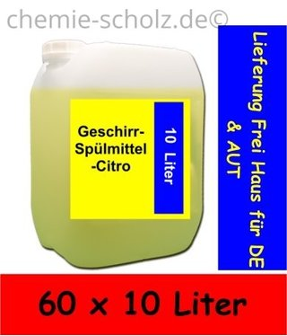 Fatzzo TT Geschirr-Spülmittel-Citro 60x10 Liter Kanister