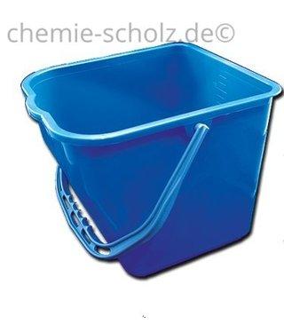 Fatzzo TT Haushaltseimer 17 Liter blau eckig Kunststoff + 5 Mikrofasertücher