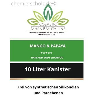 SCHOLZ COSMETIC Mango & Papaya Hair and Body Shampoo 10 Liter