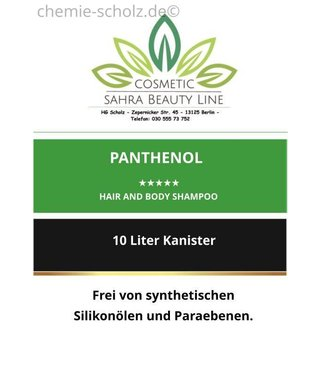 SCHOLZ COSMETIC Panthenol Hair and Body Shampoo 10 Liter Kanister