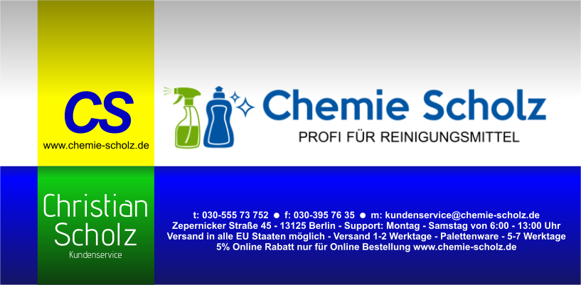 Kundenservice chemie-scholz.de