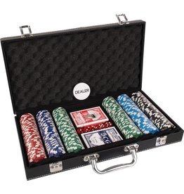 BUFFALO Pokerset koffer kunstleer 300 chips value
