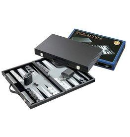 PHILOS Backgammon grijs groot 46,5x28cm