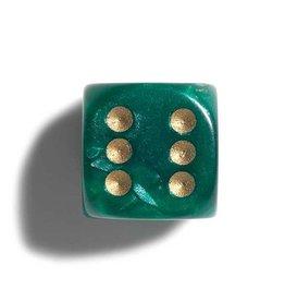 PHILOS parelmoer groen dobbelstenen 12mm 36st.