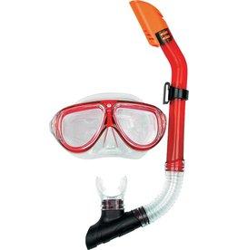 OSPREY Masker&Snorkelset  Dual Window rood