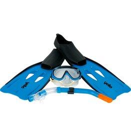 YELLO Snorkelset  blauw maat 38-39