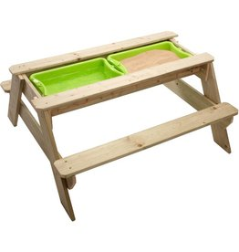 "TP TOYS picnicTable sandpit for 4 ""Joy"" FSC"