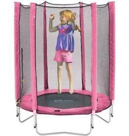 PLUM Trampoline  junior met net roze 4.5ft