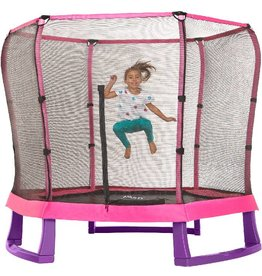PLUM Trampoline  7ft junior met net roze en paars