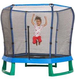 PLUM Trampoline  7ft junior met net blauw/groen