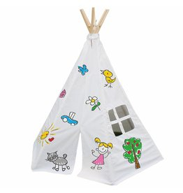 GARDEN GAMES tipi Decorate Your Own wigwam