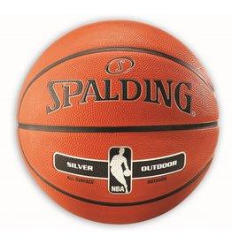 SPALDING NBA Silver outdoor maat 5 rubber
