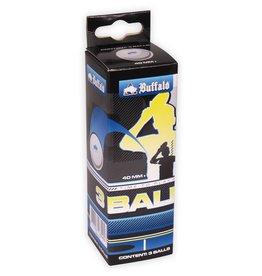 BUFFALO Tafeltennisballen  Competitie 3  3st.