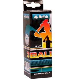 BUFFALO Tafeltennisballen  1  set 3 stuks