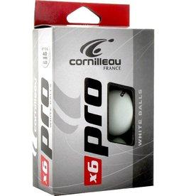 CORNILLEAU Tafeltennisballen  Pro White 6 Stuks