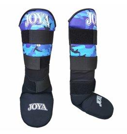 JOYA Scheenbeschermers  Velcro Camo blauw XXS