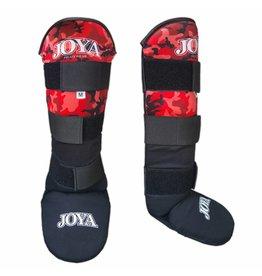 JOYA Scheenbeschermers  Velcro Camo rood in diverse maten