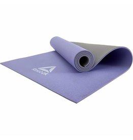 REEBOK yogamat 6 mm double sided paars/grijs