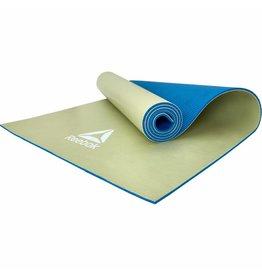 REEBOK yogamat 6 mm double sided blauw/groen