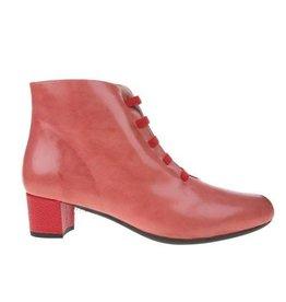 Square Feet Square Feet dames roze met rood leren enkellaarsje met ritssluiting