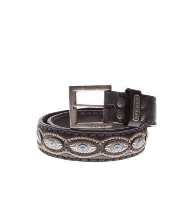 Sendra Sendra Belt 7608 black with turquoise