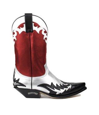 Sendra dames cowboy laars rood leer
