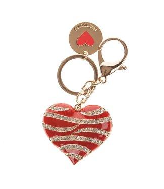 Love Moschino JC5415 Portachiavi metallo oro Red
