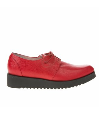 Square Feet Square Feet ladies red leather ladies lace shoe