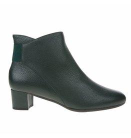 Square Feet Square Feet dames groen leren enkellaarsje met ritssluiting