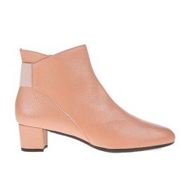 Square Feet Square Feet dames roze leren enkellaarsje met ritssluiting