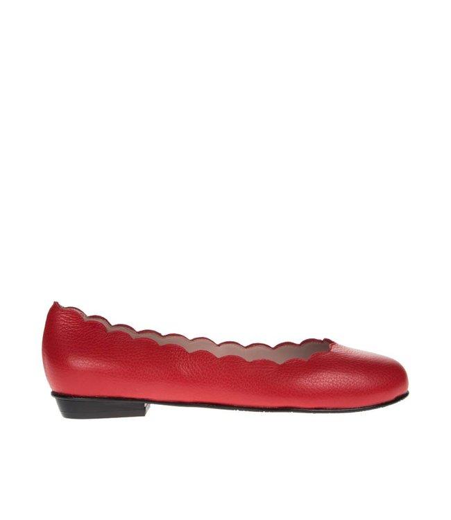 Square Feet Square Feet dames rood leren ballerina