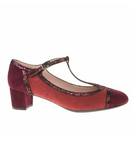 Square Feet D2543 Donker rood
