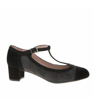 Square Feet dames met grijs suède pump met flexibele zool