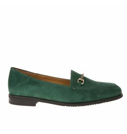 Square Feet Square Feet dames groen suède loafer