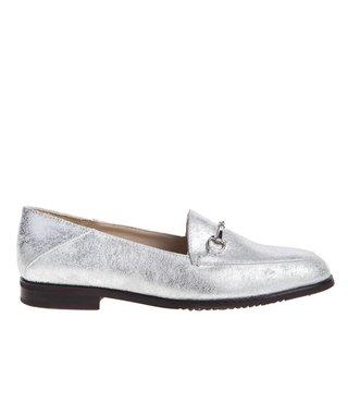 Square Feet dames zilver leren loafer