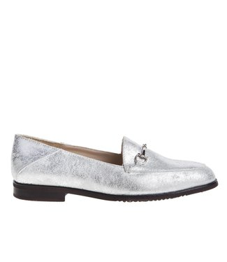 Square Feet Square Feet Ladies silver leather loafer
