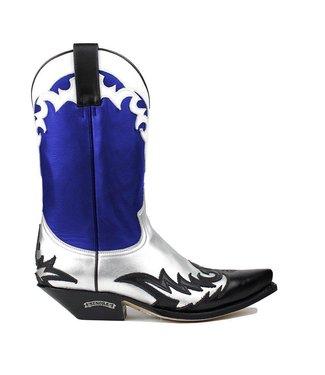 Sendra Sendra dames cowboy laars blauw leer