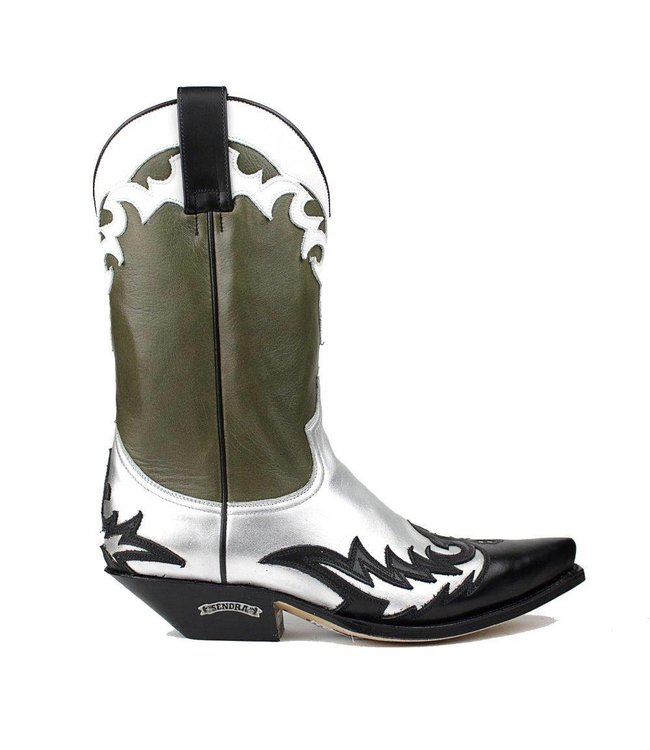 Sendra Sendra ladies cowboy boots green leather