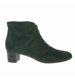 Square Feet Square Feet dames groen suède enkellaarsje met ritssluiting