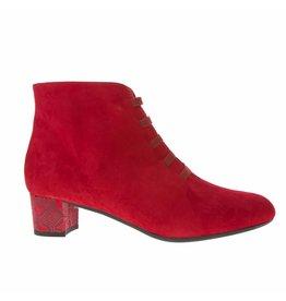 Square Feet Square Feet dames rood suède enkellaarsje met ritssluiting