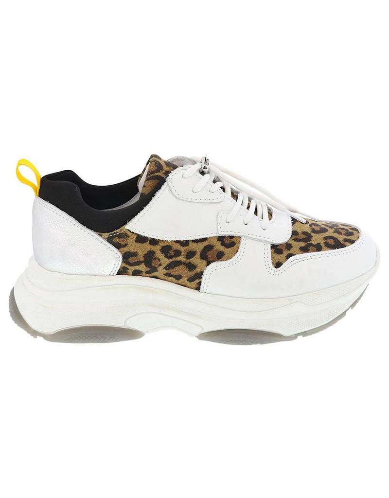 Luipaard nl Sneakers Print Met Wit Lazamani Squarefeet Leer 0xIH1q