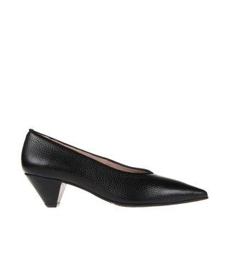 Square Feet dames zwarte leren pump