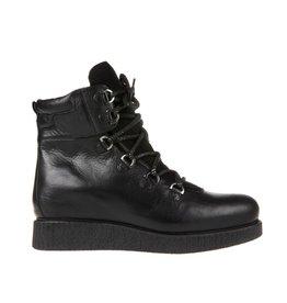 Unisa Unisa Zwart leren veter boots